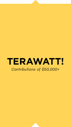 Terawatt contribution at least $50,000
