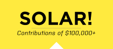 Solar contribution at least $100,000